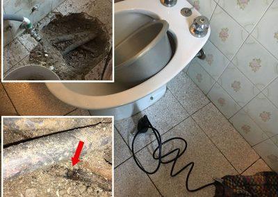 ricerca perdita da impianto acqua sanitaria