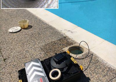 videoispezione skimmer piscina